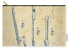 1951 Fender Electric Guitar Patent Artwork - Vintage Carry-all Pouch by Nikki Marie Smith
