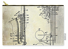 1951 Saxophone Patent Drawing Carry-all Pouch