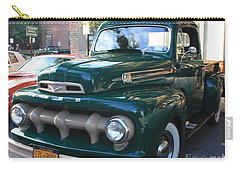 1952  Ford Pick Up Truck Front And Side View Carry-all Pouch by John Telfer