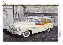 1953 Buick Estate Wagon Woody Carry-all Pouch by Jack Pumphrey