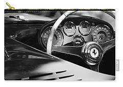 1954 Ferrari 500 Mondial Spyder Steering Wheel Emblem Carry-all Pouch by Jill Reger