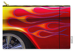 1955 Chevy Pickup With Flames Carry-all Pouch by Garry Gay
