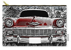 Vintage Car Carry-all Pouch featuring the photograph 1956 Chevy Bel Air by Aaron Berg