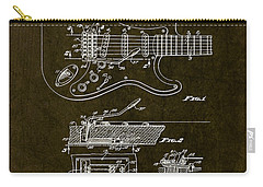 1956 Fender Tremolo Patent Drawing II Carry-all Pouch
