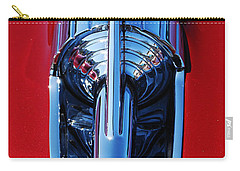 Carry-all Pouch featuring the photograph 1957 Chevy Belair Hood Rocket by Jani Freimann