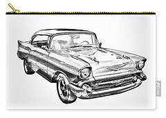 1957 Chevy Bel Air Illustration Carry-all Pouch