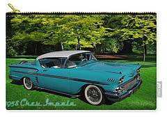 Carry-all Pouch featuring the digital art 1958 Chev Impala by Richard Farrington