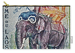1958 Laos Elephant Stamp Carry-all Pouch