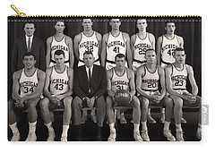 1960 University Of Michigan Basketball Team Photo Carry-all Pouch by Mountain Dreams