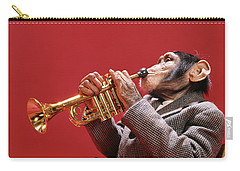 1960s Chimpanzee Wearing Sport Jacket Carry-all Pouch