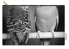 1960s Pair Of Parakeets Perched Carry-all Pouch