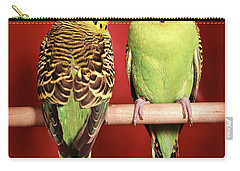 1960s Pair Of Two Yellow Green Carry-all Pouch