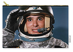 1960s Portrait Of Man In Silver Carry-all Pouch
