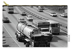 1960s Tanker Truck Traveling On Busy Carry-all Pouch