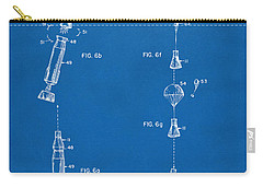 1963 Space Capsule Patent Blueprint Carry-all Pouch by Nikki Marie Smith