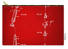 1963 Space Capsule Patent Red Carry-all Pouch by Nikki Marie Smith