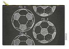 1964 Soccerball Patent Artwork - Gray Carry-all Pouch