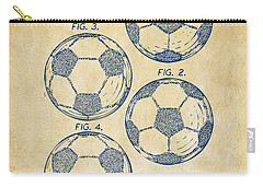 1964 Soccerball Patent Artwork - Vintage Carry-all Pouch by Nikki Marie Smith