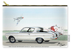 1965 Barracuda  Classic Plymouth Muscle Car Carry-all Pouch by John Samsen
