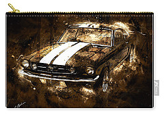 1965 Ford Shelby Mustang Gto-350 #5 Carry-all Pouch