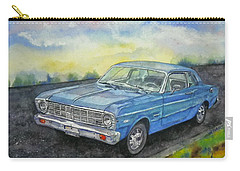 Carry-all Pouch featuring the painting 1967 Ford Falcon Futura by Anna Ruzsan