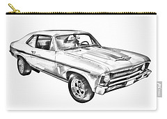 1969 Chevrolet Nova Yenko 427 Muscle Car Illustration Carry-all Pouch