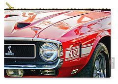 1969 Shelby Cobra Gt500 Front End - Grille Emblem Carry-all Pouch