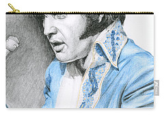 1970 Blue Brocade Suit Carry-all Pouch