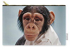 1970s Close-up Face Chimpanzee Looking Carry-all Pouch