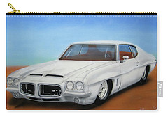 Carry-all Pouch featuring the painting 1972 Pontiac Gto by Thomas J Herring