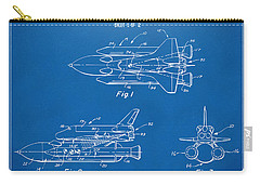 1975 Space Shuttle Patent - Blueprint Carry-all Pouch by Nikki Marie Smith