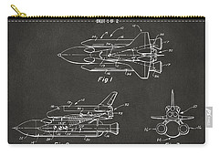 1975 Space Shuttle Patent - Gray Carry-all Pouch by Nikki Marie Smith