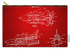 1975 Space Shuttle Patent - Red Carry-all Pouch by Nikki Marie Smith