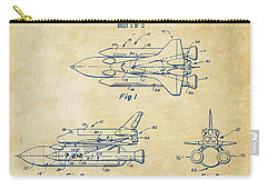 1975 Space Shuttle Patent - Vintage Carry-all Pouch by Nikki Marie Smith
