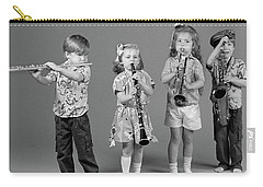 1980s Two Boys And Two Girls Playing Carry-all Pouch