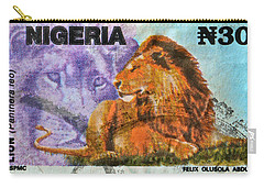 1993 Nigerian Lion Stamp Carry-all Pouch