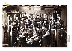 19th C. Female Cadets Armed With Brooms Carry-all Pouch