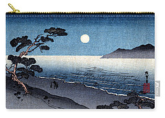 19th C. Moonlit Japanese Beach Carry-all Pouch