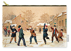 19th C. Snowball Fight Carry-all Pouch