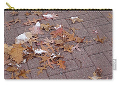Carry-all Pouch featuring the photograph 1st Snow Detail by Christina Verdgeline