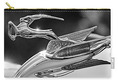 1933 Chrysler Imperial Hood Ornament -0484bw Carry-all Pouch