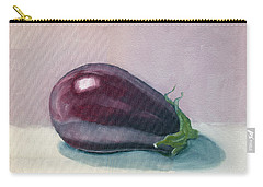 A Is For Aubergine Carry-all Pouch by Katherine Miller