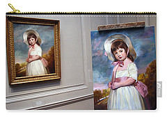Carry-all Pouch featuring the photograph A Painting Of A Painting by Cora Wandel