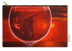 A Toast To Love And Wine Carry-all Pouch
