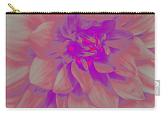 Carry-all Pouch featuring the photograph A Touch Of Purple - Pop Art by Dora Sofia Caputo Photographic Art and Design