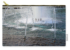 Carry-all Pouch featuring the photograph A World War Fountain by Cora Wandel
