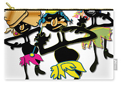 Carry-all Pouch featuring the digital art African Dancers by Marvin Blaine