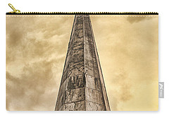 Carry-all Pouch featuring the photograph Aging Church Steeple by Gary Slawsky