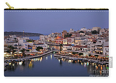 Agios Nikolaos City During Dusk Time Carry-all Pouch