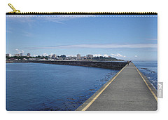 Carry-all Pouch featuring the photograph Along The Breakwater by Marilyn Wilson